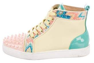 Christian Louboutin Embellished High-Top Sneakers