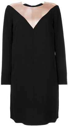 Paule Ka sheer panel longsleeved dress
