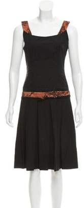 Sophie Theallet Pleated Lace-Trimmed Dress Black Pleated Lace-Trimmed Dress