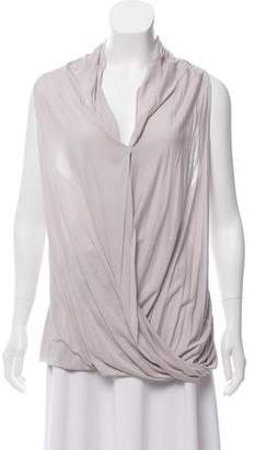 Helmut Lang Draped Sleeveless Top