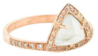 Jacquie Aiche 14K Moonstone & Diamond Trillion Ring