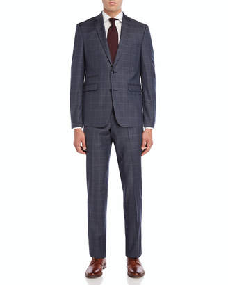 Vince Camuto Two-Piece Grey Windowpane Suit