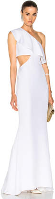 Cushnie et Ochs Crepe Gown with Sash Detail