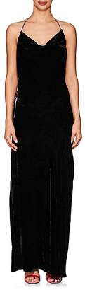 Juan Carlos Obando Women's Velvet Cowlneck Open-Back Gown