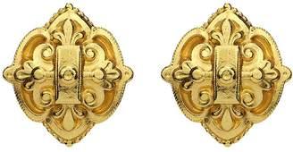 Veronica Beard Gold Clip Earrings