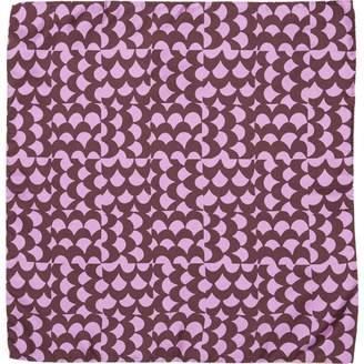 Saint Laurent Purple Silk Scarves