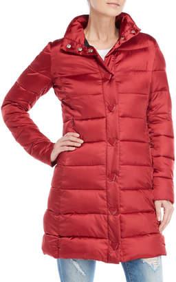 Love Moschino Single-Breasted Longline Puffer Coat