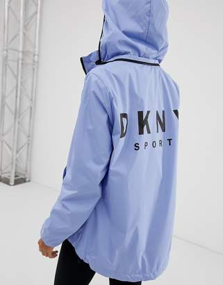 DKNY convertible hood jacket with oversized logo