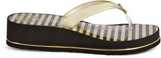 GUESS Enzy Stripe Wedge Flip Flop