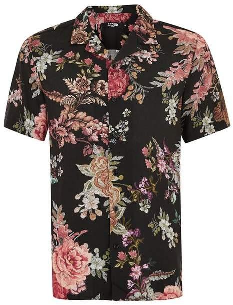 JADED LONDON Hemd mit floralem Barock-Print
