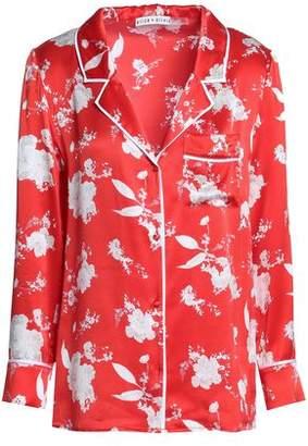 b993c2d211d464 Alice + Olivia Printed Silk-satin Shirt