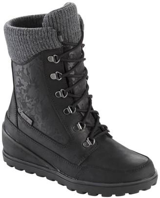 L.L. Bean L.L.Bean Women's Wedge Snow Boot, Leather/Mesh