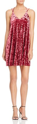 AQUA Crushed Velvet Slip Dress $68 thestylecure.com