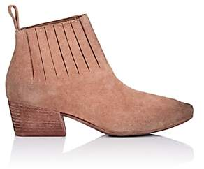Marsèll Women's Gore-Detailed Suede Ankle Boots - Pink