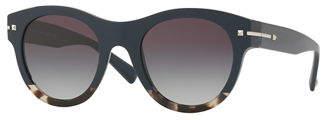 Valentino Two-Tone Rockstud Iridescent Sunglasses
