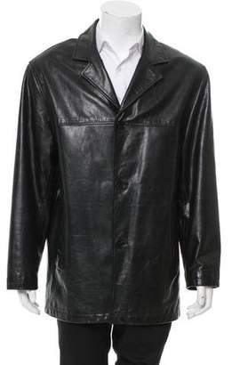 Andrew Marc Leather Car Coat