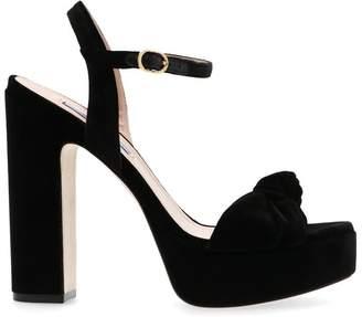 Stuart Weitzman Mirri Bow Detail Platform Sandals