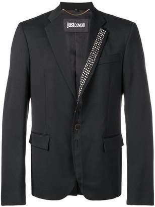 Just Cavalli stud-detail fitted blazer