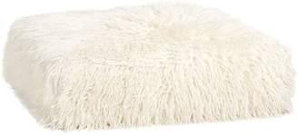 Pottery Barn Teen Cushy Lounge Ottoman, Ivory Furlicious Faux-Fur