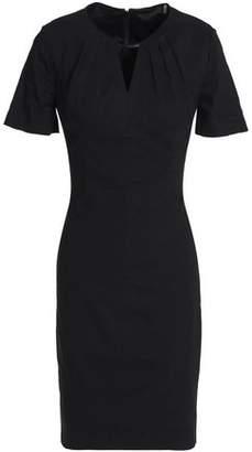 Elie Tahari Cutout Linen-blend Dress
