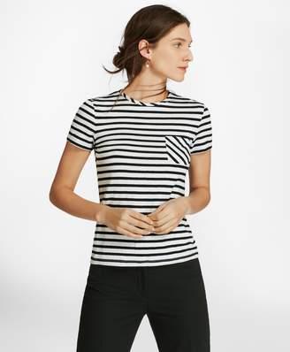 Brooks Brothers Striped Linen-Blend Jersey T-Shirt