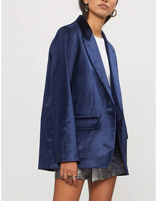 Rag & Bone Monty single-breasted velvet blazer