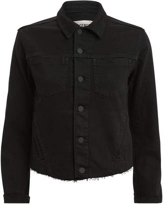 L'Agence Janelle Black Denim Jacket