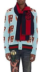 "Gucci Men's ""Guccy"" Wool-Silk Scarf - Green"