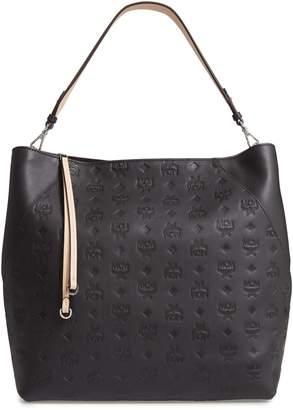 MCM Large Klara Monogram Leather Hobo