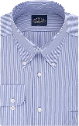 Eagle Men's Non Iron Stretch Collar Big Stripe Buttondown Collar Dress Shirt