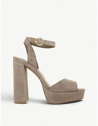 8d6e25a0d5e Steve Madden Madeline peep-toe suede platform sandals