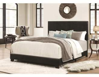 Home Source Industries Home Source Archer Twin Size Black Faux Leather Bed
