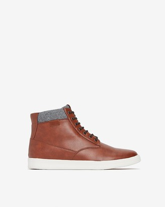 Express High Top Faux Leather Sneakers