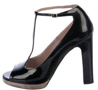 Chloé Peep-Toe Logo Pumps cheap extremely cheap pay with visa YeD70