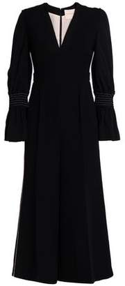 Roksanda Flared Shirred Crepe Jumpsuit