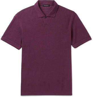 Ermenegildo Zegna Hemp-Piqué Polo Shirt