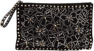Valentino Metallic Suede Clutch Bag