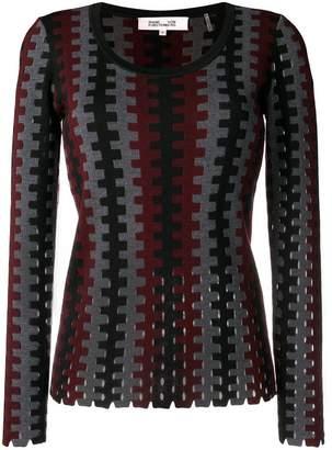 Diane von Furstenberg fitted knit top