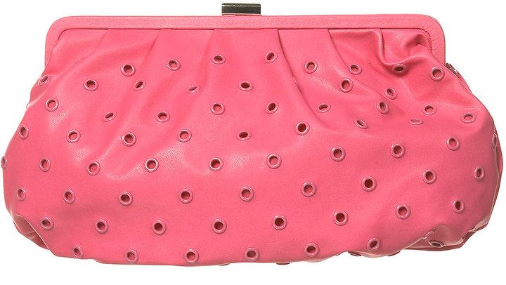 Coloured Eyelet Clutch Bag