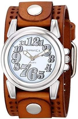 Nemesis Women's 069BPLBS Trendy Oversized Series Analog Display Japanese Quartz Brown Watch