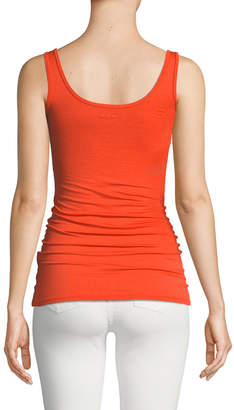 Three Dots Long Fitted Jersey Tank