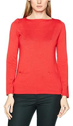 Betty Barclay Women's Knitted 1/1 Sleeve Jumper, (Coral Red), (Size:42)