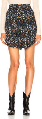 Chloé Blossom Print Viscose Georgette Flowy Shorts