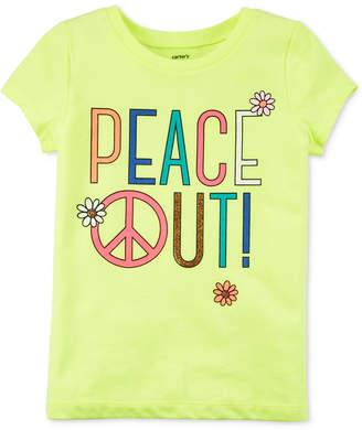 Carter's Peace Out T-Shirt, Little & Big Girls