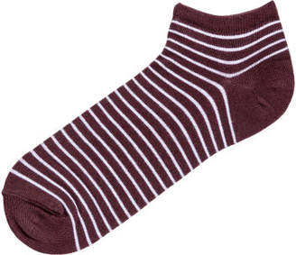 H&M Striped Ankle Socks - Red