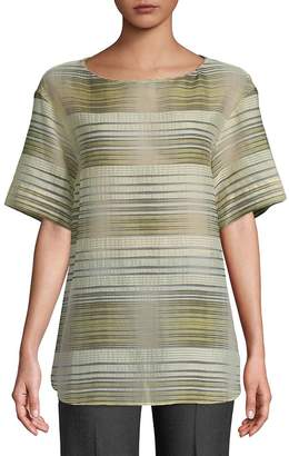 Lafayette 148 New York Women's Samara Striped Blouse