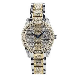 Croton Women's 'Honeycomb' Quartz Stainless Steel Watch