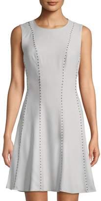Donna Karan Studded Sleeveless A-Line Dress