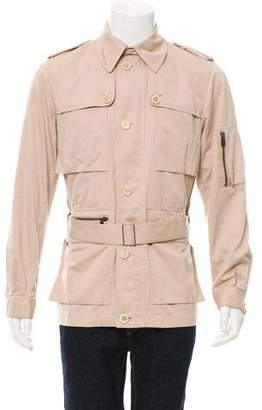 Saint Laurent Saharienne Lightweight Zip-Up Jacket