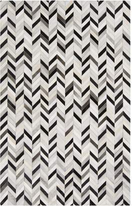 Surya OUT1008-23 Hand Crafted Casual Accent Rug, 2-Feet by 3-Feet, Light Gray/Beige/Black
